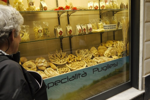 Inspecting Italian pastries