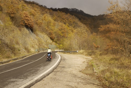 The final climb in fall colours