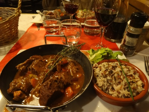 Beef stew from Camargue bulls with local red rice