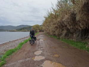 Dirt coast road.