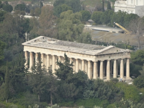 Temple of Hephaestus as seen from the Acropolis.